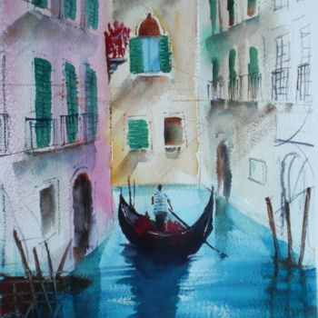 """Painting titled """"Venice 16"""" by Giorgio Gosti, Original Art, Watercolor"""