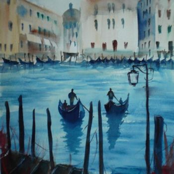 """Painting titled """"Venice 19"""" by Giorgio Gosti, Original Art, Watercolor"""
