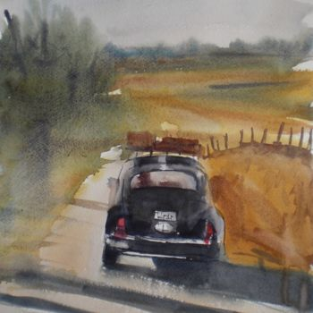 """Painting titled """"beetle car"""" by Giorgio Gosti, Original Art, Watercolor"""