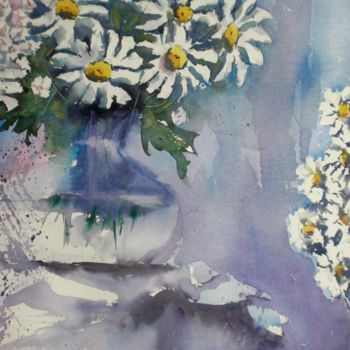 """Painting titled """"daises"""" by Giorgio Gosti, Original Art, Watercolor"""