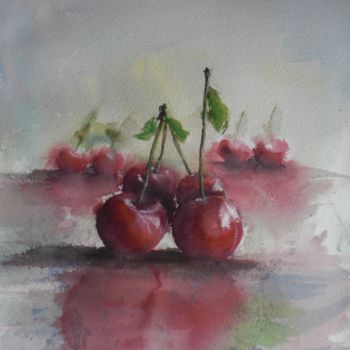 """Painting titled """"cherries"""" by Giorgio Gosti, Original Art, Watercolor"""