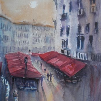 """Painting titled """"Venice 50"""" by Giorgio Gosti, Original Art, Watercolor"""