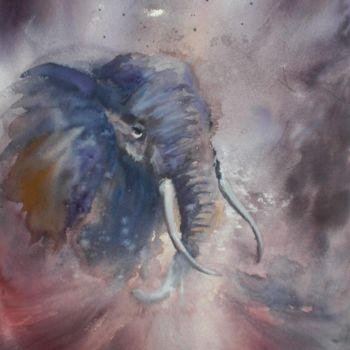 """Painting titled """"elephant"""" by Giorgio Gosti, Original Art, Watercolor"""