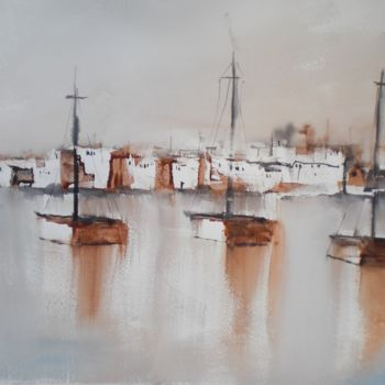 """Painting titled """"boats 13"""" by Giorgio Gosti, Original Art, Watercolor"""