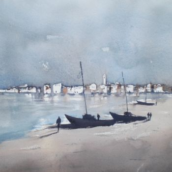 """Painting titled """"boats 15"""" by Giorgio Gosti, Original Art, Watercolor"""