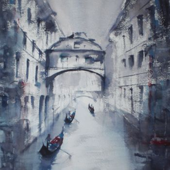 """Painting titled """"Venice 61"""" by Giorgio Gosti, Original Art, Watercolor"""