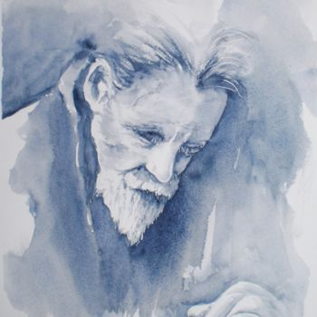 """Painting titled """"portrait of an old…"""" by Giorgio Gosti, Original Art, Watercolor"""