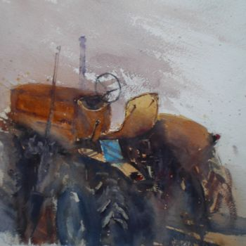 """Painting titled """"the tractor 5"""" by Giorgio Gosti, Original Art, Watercolor"""