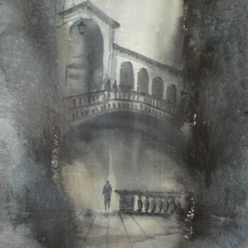 """Painting titled """"Venice 69"""" by Giorgio Gosti, Original Art, Watercolor"""