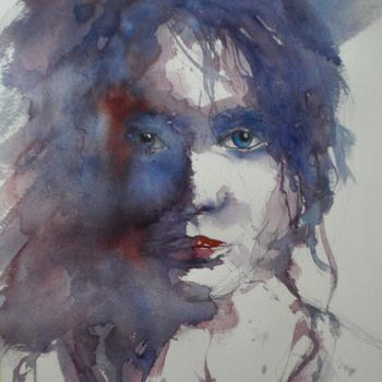"""Painting titled """"young girl 12"""" by Giorgio Gosti, Original Art, Watercolor"""