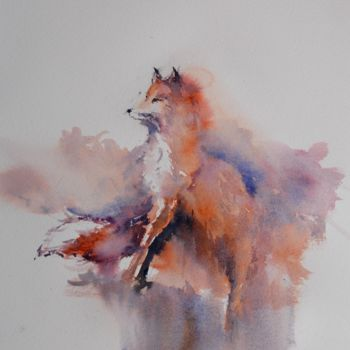 """Painting titled """"fox"""" by Giorgio Gosti, Original Art, Watercolor"""