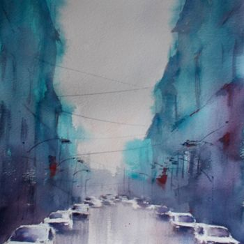 """Painting titled """"an imaginary city 41"""" by Giorgio Gosti, Original Art, Watercolor"""