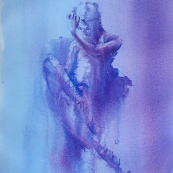 """Painting titled """"ballet dancer"""" by Giorgio Gosti, Original Art, Watercolor"""