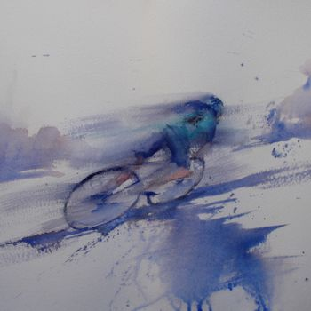 """Painting titled """"cycling 3"""" by Giorgio Gosti, Original Art, Watercolor"""