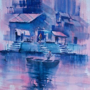 """Painting titled """"boats 52"""" by Giorgio Gosti, Original Art, Watercolor"""