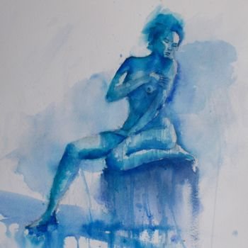 """Painting titled """"naked woman 3_"""" by Giorgio Gosti, Original Art, Watercolor"""