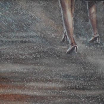 """Painting titled """"legs in the rain"""" by Giorgio Gosti, Original Art, Watercolor"""