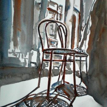 """Painting titled """"the chair"""" by Giorgio Gosti, Original Art, Watercolor"""