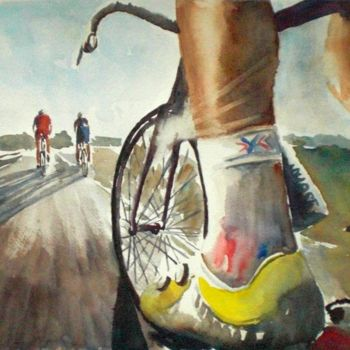 """Painting titled """"the race"""" by Giorgio Gosti, Original Art,"""