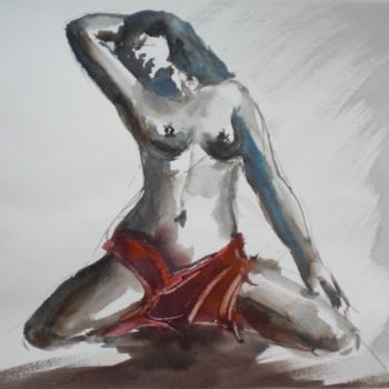 """Painting titled """"naked woman"""" by Giorgio Gosti, Original Art, Watercolor"""