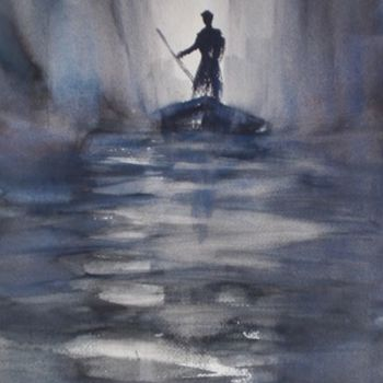 """Painting titled """"through the mist"""" by Giorgio Gosti, Original Art, Watercolor"""