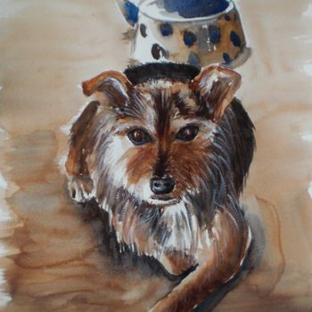 """Painting titled """"Ringhio"""" by Giorgio Gosti, Original Art, Watercolor"""