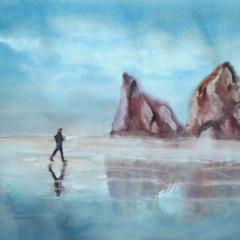 """Painting titled """"running 2"""" by Giorgio Gosti, Original Art, Watercolor"""