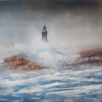 """Painting titled """"lighthouse"""" by Giorgio Gosti, Original Art, Watercolor"""