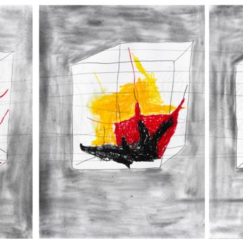 """Painting titled """"""""The rooms of the m…"""" by Giulio Benatti, Original Art, Graphite"""
