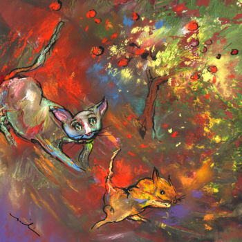 """Painting titled """"Love Games Under Th…"""" by Miki De Goodaboom, Original Art, Oil"""