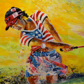 Sport Painting, acrylic, expressionism, artwork by Miki De Goodaboom