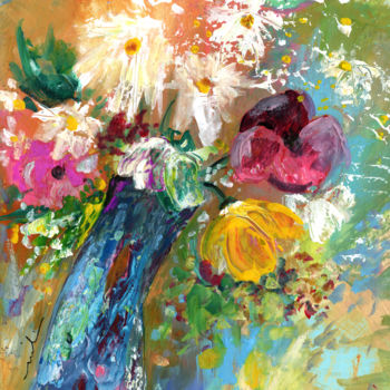 Painting, acrylic, expressionism, artwork by Miki De Goodaboom
