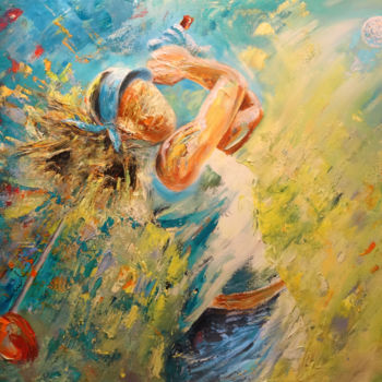Sport Painting, expressionism, artwork by Miki De Goodaboom