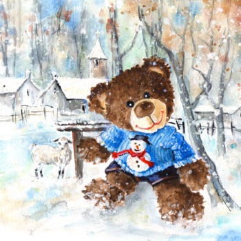 """Painting titled """"Truffle McFurry And…"""" by Miki De Goodaboom, Original Art, Watercolor"""