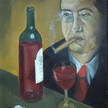 """Painting titled """"``The Director``"""" by Reginald Gray, Original Art,"""