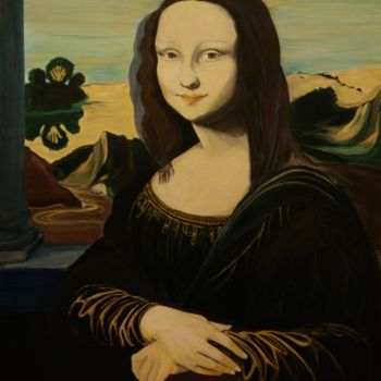 Painting, tempera, classicism, artwork by Fulvia Guccini