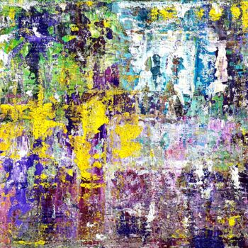 """Painting titled """"Abstraction 19-21"""" by Jean François Guelfi, Original Art, Acrylic Mounted on Stretcher frame"""