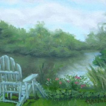 """Painting titled """"A Quiet Place"""" by Gloria Nilsson, Original Art, Oil"""