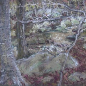 """Painting titled """"Edge of the Brook"""" by Gloria Nilsson, Original Art, Oil"""