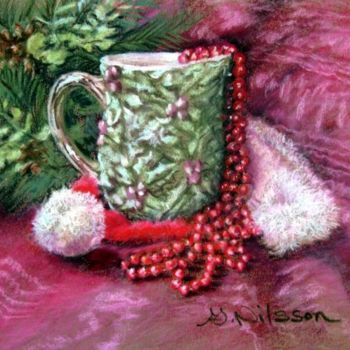 """Painting titled """"Mom's Holly Pitcher"""" by Gloria Nilsson, Original Art,"""