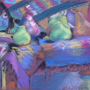 """Painting titled """"Southwest Pears"""" by Gloria Nilsson, Original Art,"""
