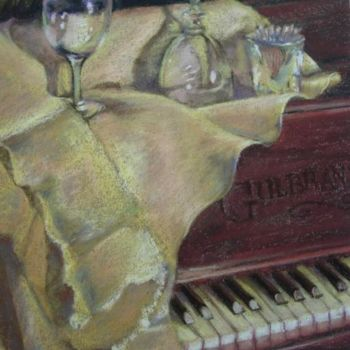 Painting, pastel, artwork by Gloria Nilsson