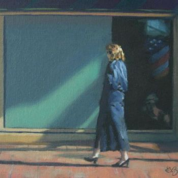 """Painting titled """"Thoughts of a Nation"""" by Gloria Nilsson, Original Art, Oil"""