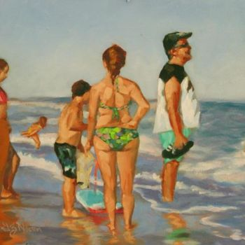 Painting, oil, figurative, artwork by Gloria Nilsson