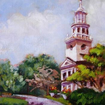 Monument Painting, oil, figurative, artwork by Gloria Nilsson