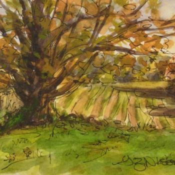 """Painting titled """"Field of Light"""" by Gloria Nilsson, Original Art, Ink"""