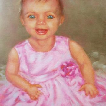 """Painting titled """"Little Angel"""" by Gloria Nilsson, Original Art, Oil"""