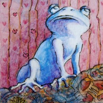 """Painting titled """"I'm Blue Without You"""" by Gloria Nilsson, Original Art,"""