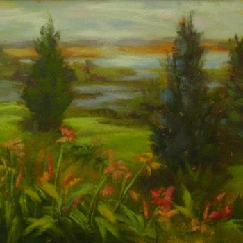 """Painting titled """"Morning Symphony"""" by Gloria Nilsson, Original Art, Oil"""