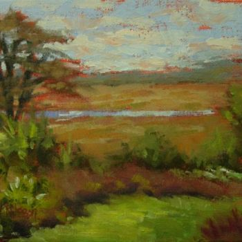 """Painting titled """"Marsh View, Lords C…"""" by Gloria Nilsson, Original Art, Oil"""